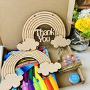 Children's Wooden Hanging Rainbow Letterbox Kit