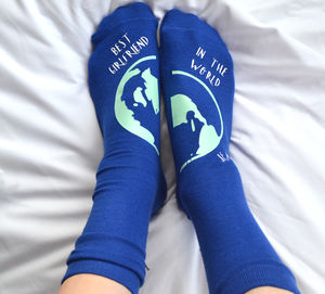 Personalised Best In The World Socks