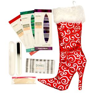 Red Stiletto Stocking Christmas Gift Set