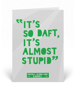 Funny Football Birthday Card Kammy Quote