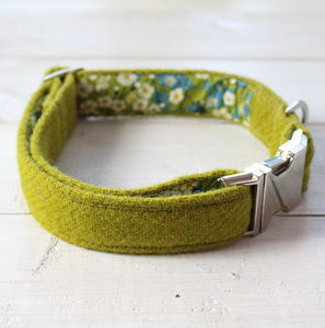 Campbell Harris Tweed Dog Collar - dog collars