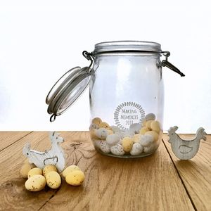 Making Memories 2018 Glass Jar - kitchen