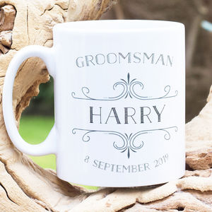 Best Man Personalised Mug