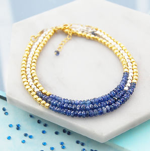 Genuine Blue Sapphire Birthstone Friendship Bracelets