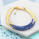 Genuine Blue Sapphire September Birthstone Bracelets