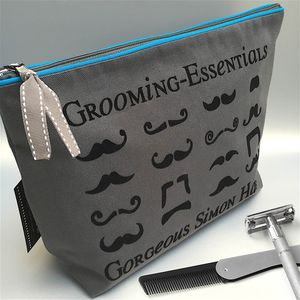 Personalised 'Fan Tache Kit' Luxury Wash Bag