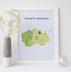 Map Of County Durham