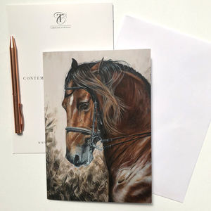 Horse Painting | Horse Greeting Card | Horse Gifts