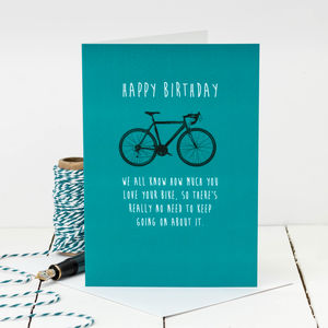 Birthday Card For Cyclists