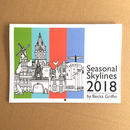 Seasonal Skylines 2018 Wall Calendar