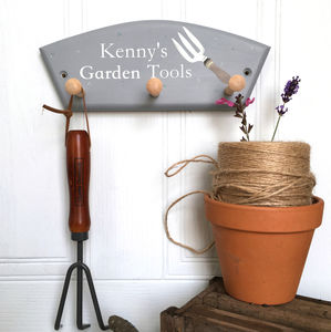 Personalised Garden Tool Peg