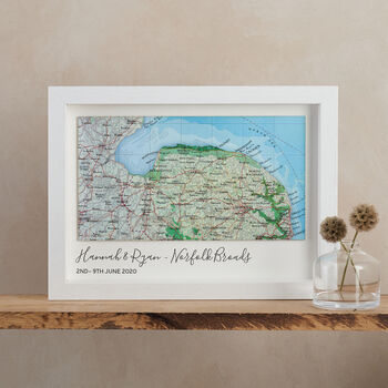 Personalised Map Landscape Location Print