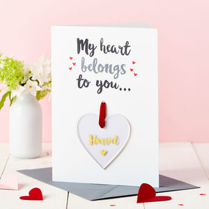 Personalised 'My Heart' Foiled Keepsake Card - shop by category