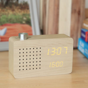 Maple Radio Click Clock - clocks