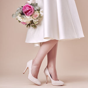 Wedding Court Shoes Scarlett Suede Platform - wedding fashion
