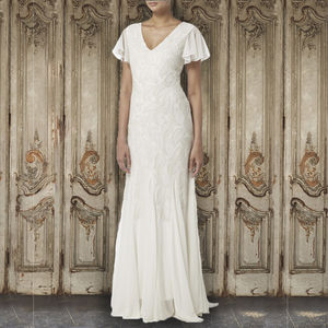 Leafy Embroidery Gown - wedding dresses