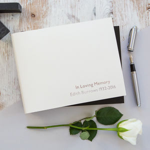 Personalised In Loving Memory Condolence Book - photo albums