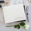 Personalised In Loving Memory Condolence Book