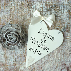 Personalised Wedding Message Heart - wedding favours