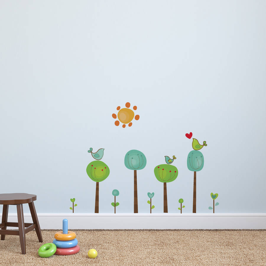 childrens bird tree wall stickers by parkins interiors children wall decal shelves tree decal shelf tree wall