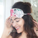 Amara Printed Silk Eye Mask