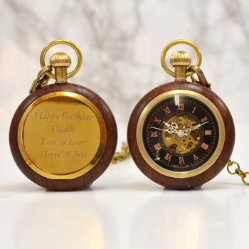 Wooden Personalised Pocket Watch