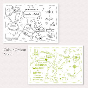 Print Your Own Mono Wedding Or Party Custom Map