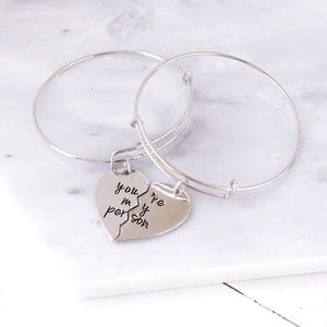 'You're My Person' Set Of Two Bangles