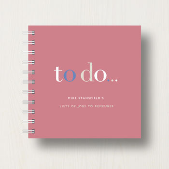 notebook in tawny red