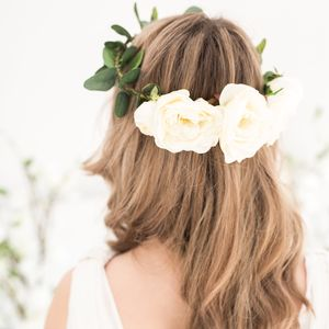 Rose And Eucalyptus Bridal Crown
