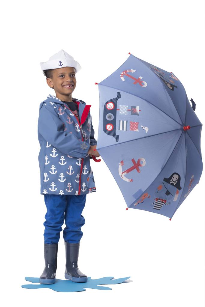 Child's Colour Changing Pirate Umbrella
