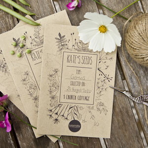 Seed Collecting Envelopes Personalised Gardening Gift