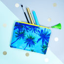 Palm Sky Blue Tasselled Zip Pouch