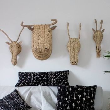 Woven Animal Heads
