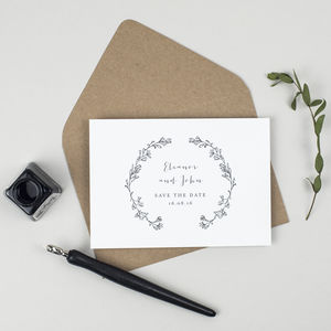 Delicate Laurel Wedding Save The Date