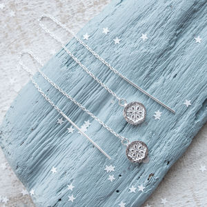 Snowflake Threader Earrings