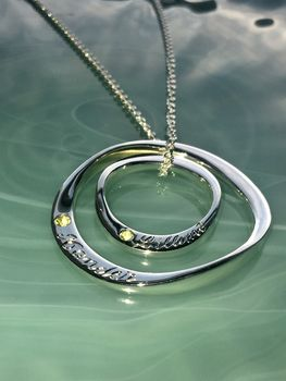 Personalised Two Silver Ring Necklace