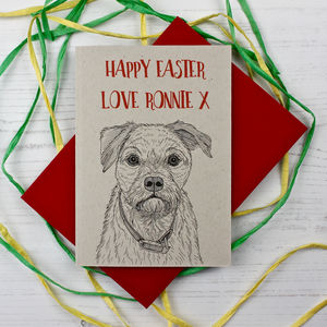 Border Terrier Easter Card