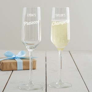 Personalised Prosecco Glass - gifts for her sale