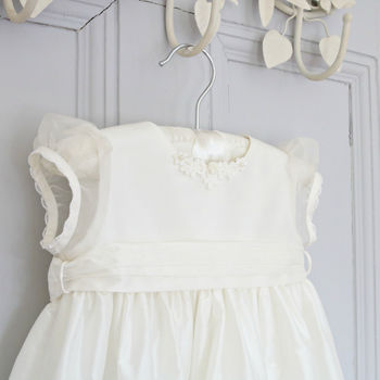 Coco Silk And Lace Personalised Christening Gown