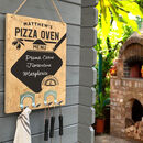 Personalised Pizza Oven Chalkboard Menu