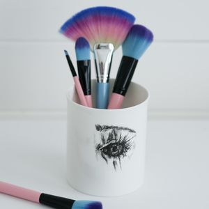 'Looking Good' Supersized Make Up Brush Pot