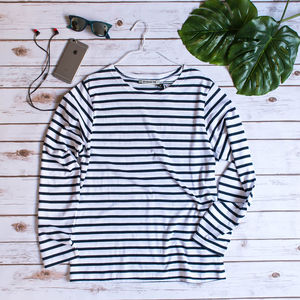 Men's Stripe Breton Top - men's fashion