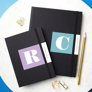 Personalised Alphabet Notebook - special work anniversary gifts