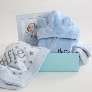 Snuggle Fleece Gift Set Blue - gifts for babies