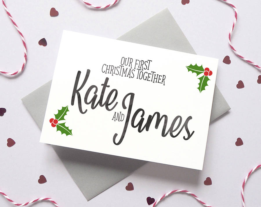 personalised first christmas boyfriend/girlfriend card by ruby wren ...