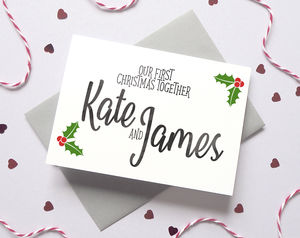Personalise First Christmas Boyfriend/Girlfriend Card