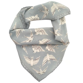 Printed Silk Neck Scarf For Women