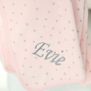 Pink Star Velvet Feel Blanket - baby care