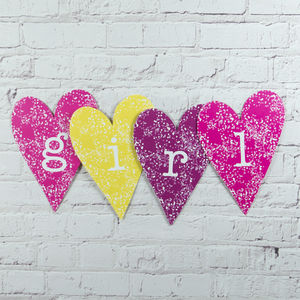 Girl Heart Decoration - decorative letters
